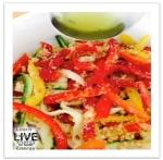 Zucchini pasta salad