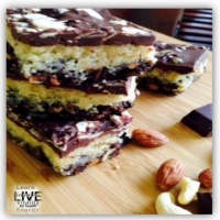 Best ever ** healthy ** Peppermint and Almond Slice